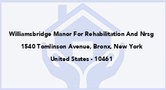 Williamsbridge Manor For Rehabilitation And Nrsg