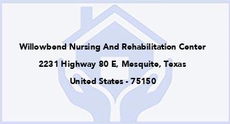 Willowbend Nursing And Rehabilitation Center