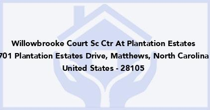 Willowbrooke Court Sc Ctr At Plantation Estates