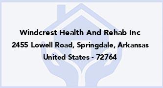 Windcrest Health And Rehab Inc