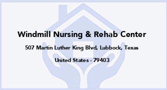Windmill Nursing & Rehab Center