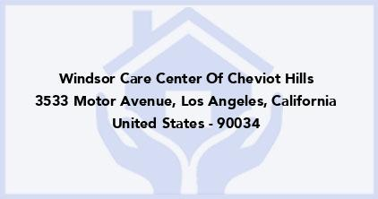 Windsor Care Center Of Cheviot Hills