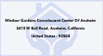 Windsor Gardens Convalescent Center Of Anaheim