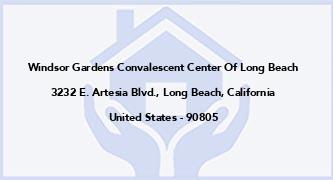Windsor Gardens Convalescent Center Of Long Beach