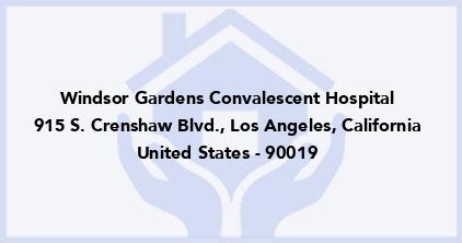 Windsor Gardens Convalescent Hospital