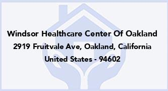 Windsor Healthcare Center Of Oakland