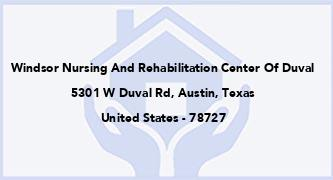 Windsor Nursing And Rehabilitation Center Of Duval