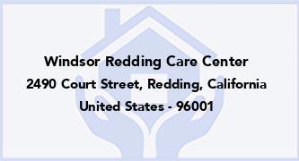 Windsor Redding Care Center