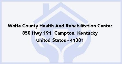 Wolfe County Health And Rehabilitation Center
