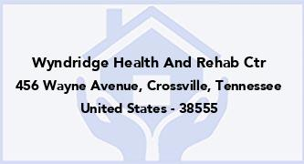 Wyndridge Health And Rehab Ctr