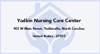 Yadkin Nursing Care Center